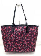 NWT Coach F55862 Reversible Canvas PVC Tote Prairie Calico Pink Ruby  Midnight