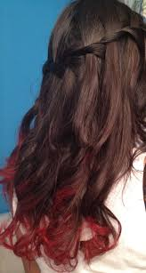 Getting My Hair Dip Dyed Red