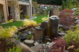 image of large stone outdoor water fountains