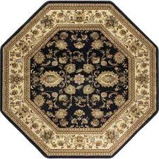 octagon traditional area rug