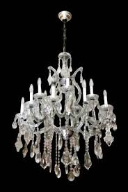 salvaged waldorf large original french crystal chandelier