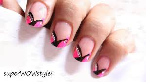 Pink French tip nail art - Cute French manicure nail designs ...
