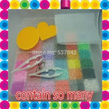 hama beads box set online hama beads box set for whole 5mm hama beads 36 colors 12 000pcs box set 6iron papers 3pegboards 3clips 4stripe fuse perler beads diy educational toys craft