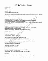 Sample Resume For Entry Level Manual Qa Tester New Qa Entry Level