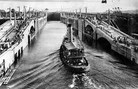 in poetry and prose newshour tugboat gatun first boat to enter the canal in 1913 passing through the west chamber photo by time life pictures getty images