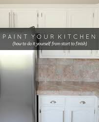painting wood cabinets whiteLiveLoveDIY How To Paint Kitchen Cabinets in 10 Easy Steps
