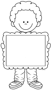 blank sign cute kids with free printable photo frames coloring