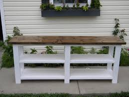 Diy Rustic Sofa Table Rustic X Console Do It Yourself Home Projects From Ana White