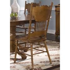 nostalgia traditional oak double press back dining chair