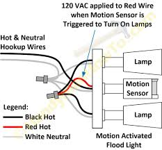 motion sensor light wiring diagram how to wire a floodlight to an existing switch at Flood Light Ing Wiring
