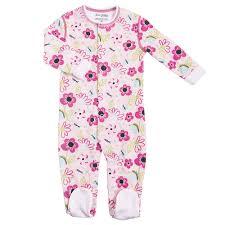 Sleepwear Robes Kushies Cotton Baby Pajamas Girls Footed