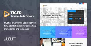 Social Media Design Templates Tiger Corporate Social Network Template By Directorythemes