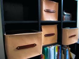 leather storage bin leather storage container using a dollar fabric bin leather storage bins baskets