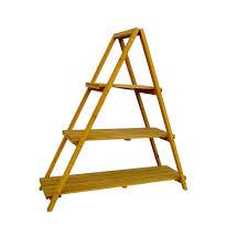 Wooden Ladder Display Stand Amazon Wooden Ladder Plant Stand Garden Outdoor 79