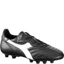 diadora brasil italy lt md pu black white firm ground soccer cleats model 170854