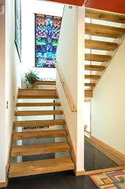 modern stair treads painting staircase with dark floor natural wood trim painted you st
