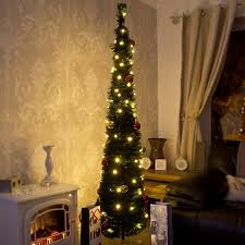 Christmas Pop Up Tree With Lights Led Decoration Awesome Picture  Inspirations Ideas Green Pre Lit