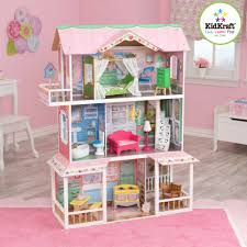 KidKraft Sweet Savannah Wooden Dollhouse with 13 Pieces of