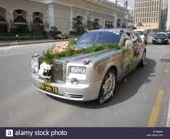 Wedding Car Decorate Wedding Car Decoration Royce Rolls Stock Photo Royalty Free Image