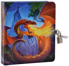 Amazon.com: Keep Out Glow in the Dark Lock and Key Dragon Diary: Toys &  Games