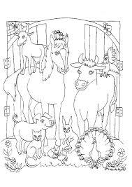 Kids N Fun Kleurplaat Paarden In De Stal