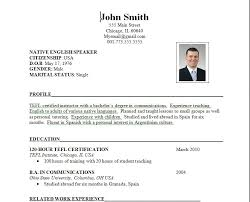 resume  best writing sample for resume template for job        free sample resume template for job aplication with tefl certified instructor profile and