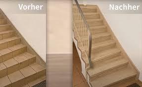 Stufenkantenprofile (skp), erhältlich in zwei ausführungen (1x oder 2x eingeschlagen), sind die grundlegende basis für jede treppenausführung. Treppenrenovierung Mit Vinyl Mit Hochwertigen Vinyl Stufen
