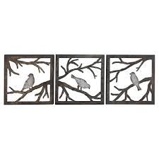 wall art ideas design birds branch square piece target metal wall art living rooms sculptures features glossy finish silhouette whimsical great sets decor