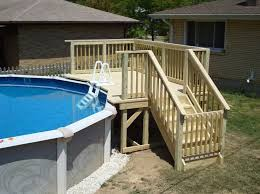 Pool Deck Steps Designs ideas for above ground pools with decks