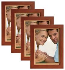 muse 5 x7 wood picture frame set of 4 modern picture frames by uniek inc