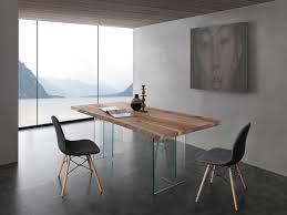 Tisch Mit Glas Beine Platte Aus Massivem Eschenholz Idfdesign