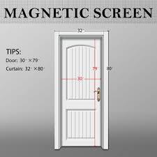 magnetic screen door screen mesh 32 x 80 fit doors size up to 30
