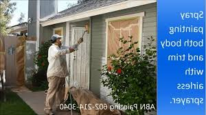 painting the exterior of a house with spray you how to paint a house