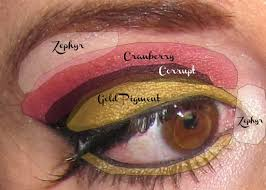 how to create gold and black eye makeup look