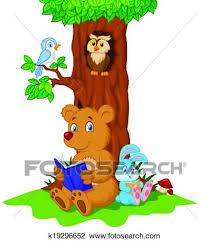 clipart cute s cartoon reading book fotosearch search clip art ilration murals