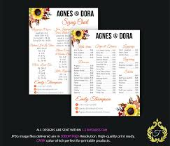 Agnes And Dora Size Chart Poster Agnes Dora Price List Poster Agnes Size Banner Sun Flower Card Personalized Digital File Ag01