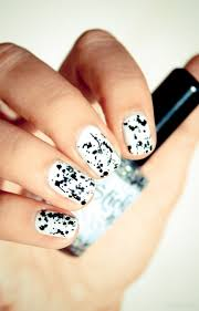 Paint Splash Nail Design 30 Gorgeous Nails Designs Painted In Black And White