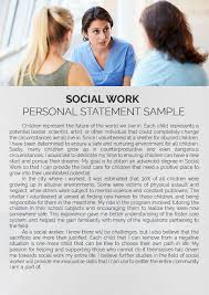 Work Statement Examples Social Work Personal Statement Sample
