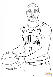 Small Picture Derrick Rose coloring page Free Printable Coloring Pages