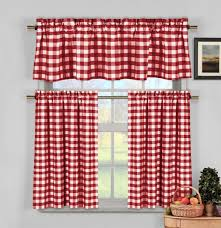 Red And White Kitchen Compare Prices On Red White Kitchen Curtains Online Shopping Buy