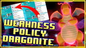 Weakness Policy Dragonite! Crown Tundra VGC 2020 Pokemon Sword and Shield  Competitive Doubles Battle - YouTube