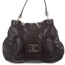 chanel coco rider flap black caviar leather bag
