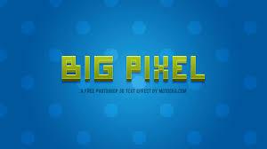 photoshop effects free big pixel free photoshop 3d text effect motosha