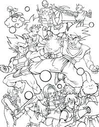 dragon ball z coloring pages free all characters in sheet goku black