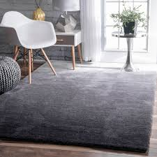grey plush rug elegant nuloom handmade soft and plush ombre grey rug 5 x 8