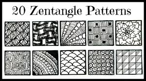 Zentangle Patterns Custom Easy 48 Zentangle Patterns For Beginners YouTube