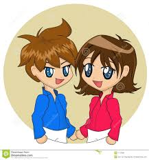 cute cartoon couple