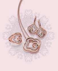viventy jewels touch of romance ring collier and earrings sormus kaulakoru