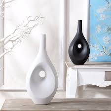 ... Vases, Contemporary White Vases Modern Vases Wholesale Contemporary  White Ceramic Floor Vase With Hole In ...