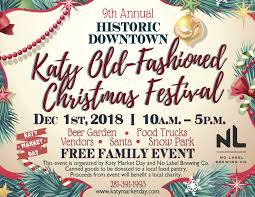 Christmas Event Katy Old Fashioned Christmas Festival Dec 1st 2018